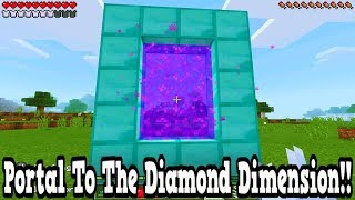 minecraft portal to the diamond dimension tutorial pocket edition xbox ps3 ps4 switch