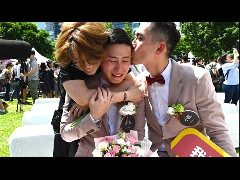 LGBT Victory: Taiwan Holds Outdoor Wedding Party