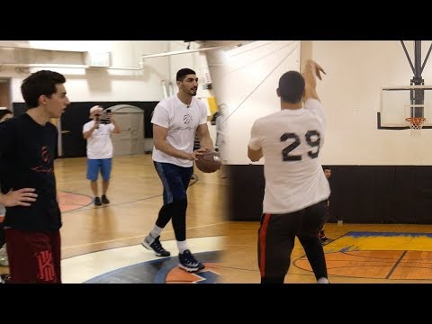 HALF COURT CHALLENGE VS NBA PLAYER ENES KANTER