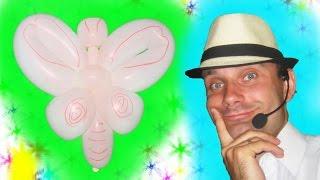 Бабочка из одного шарика шдм ★ butterfly of a long balloon