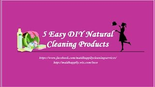 5 Natural Cleaning Products - DIY (Maid Happily Cleaning Services)