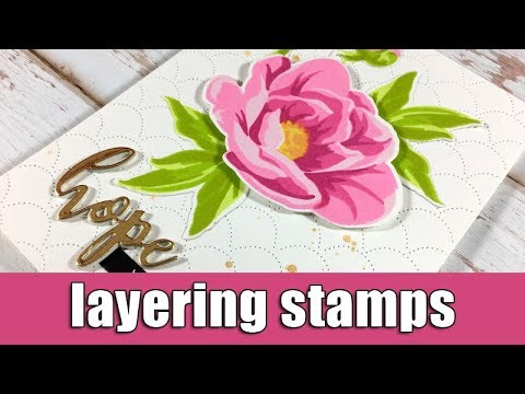 Layering stamps | Altenew blog hop & Giveaway