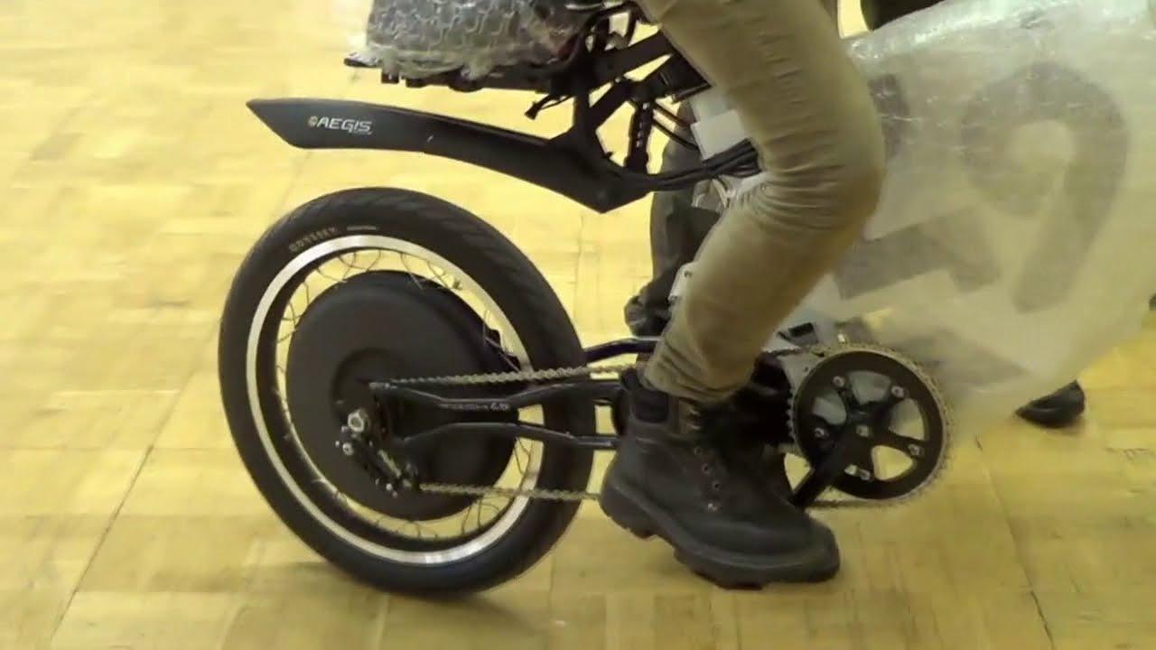 Мотор-колесо Шкондина, скутер - YouTube