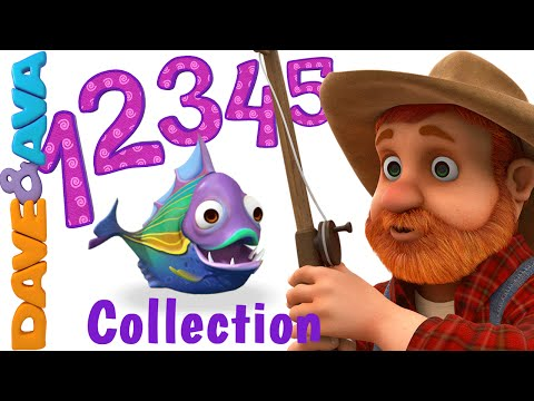 12345 Once I Caught a Fish A  Number Song  Nursery Rhymes Collection from Dave and Ava