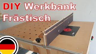 DIY mobile multifunktionale Werkbank + Frästisch selber bauen | Werkstatt aufbau