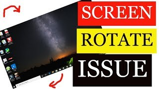 Windows 10 Auto Rotate issue Fix | screen automatically rotate windows 10
