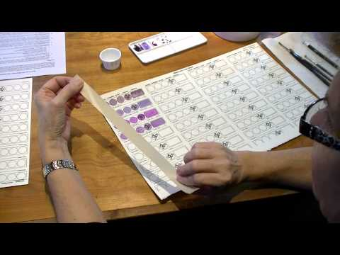 Video on Watercolor Test Sheet