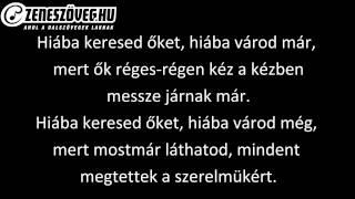Fekete Vonat - Mindent a szerelemért (dalszöveg - lyrics video)