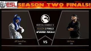 Match 18 - MKX - $100,000 Prize - Season 2 Finals (Winner Finals) - SonicFox vs UA Scar