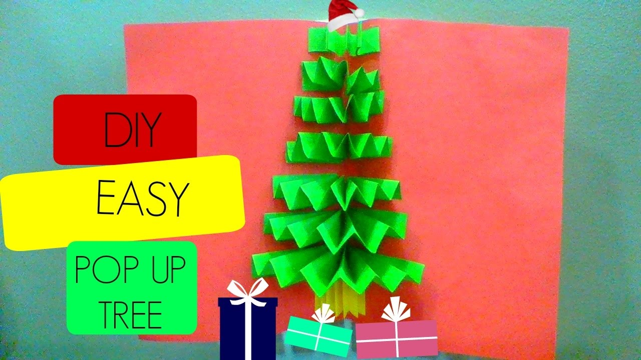 DIY 3D Christmas Pop Up Card, Fast And Easy Tutorial, Very