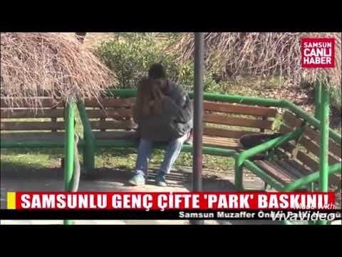 Samsunlu genç çifte park baskını