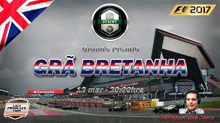 F1 2017 AO VIVO - GP DA INGLATERRA - XBOX SPRINT - NARRAÇÃO LUIS COURA - LIGA PRORACE E-SPORTS