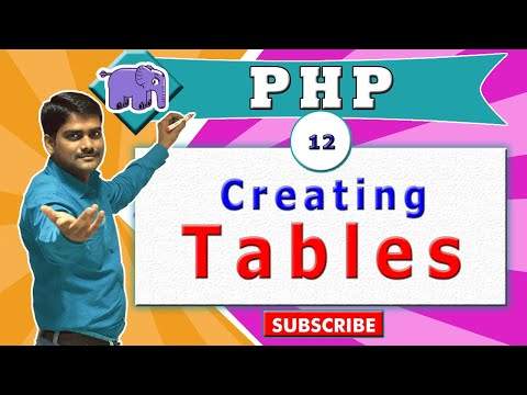 PHP Video Tutorial 12 - HTML Table Tag, Table Layout Inside PHP