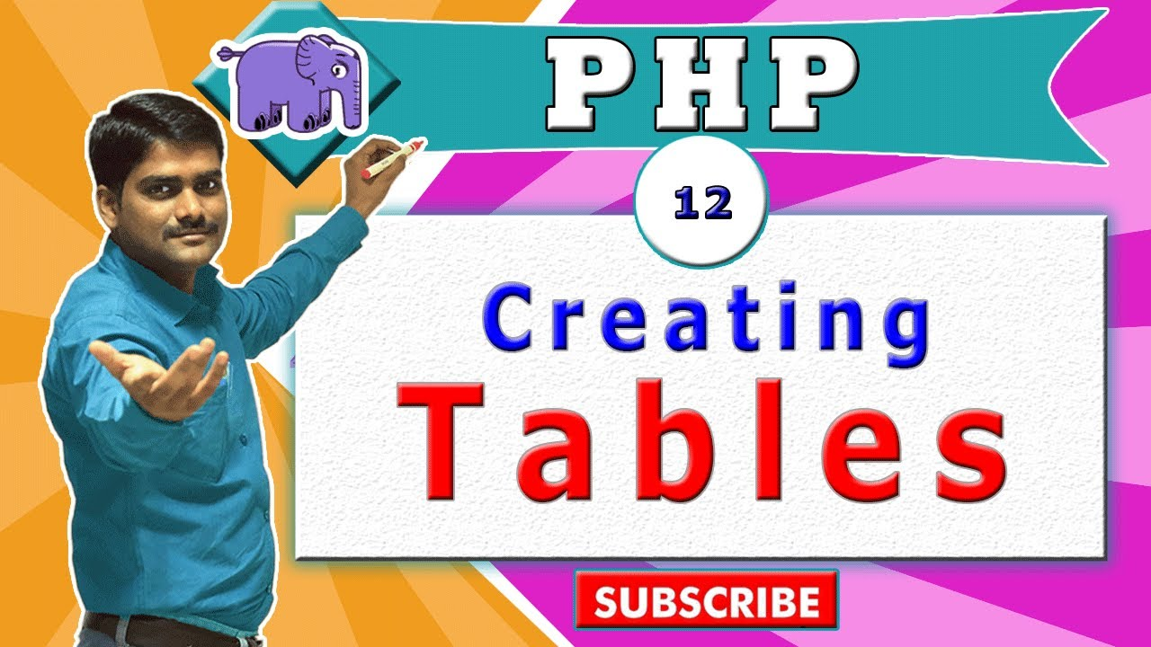 Php Video Tutorial 12 Html Table Tag Table Layout Inside Php