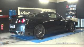 Reprogrammation Moteur Nissan GTR 35 530cv @ 596cv Digiservices Paris 77 Dyno