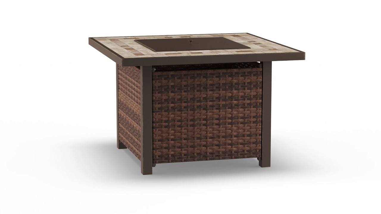 Wilson Fisher Augusta All Weather Wicker Gas Fire Pit Table 37 Big Lots