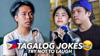 TAGALOG JOKES With EMPOY (Try Not To Laugh!!) | Ranz and Niana