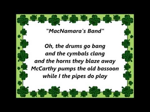 IRISH SONGS MACNAMARA'S BAND words lyrics best top popular favorite sing along song songs