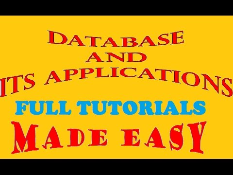 Database And Its Applications Full Course | Introduction To Database Management System