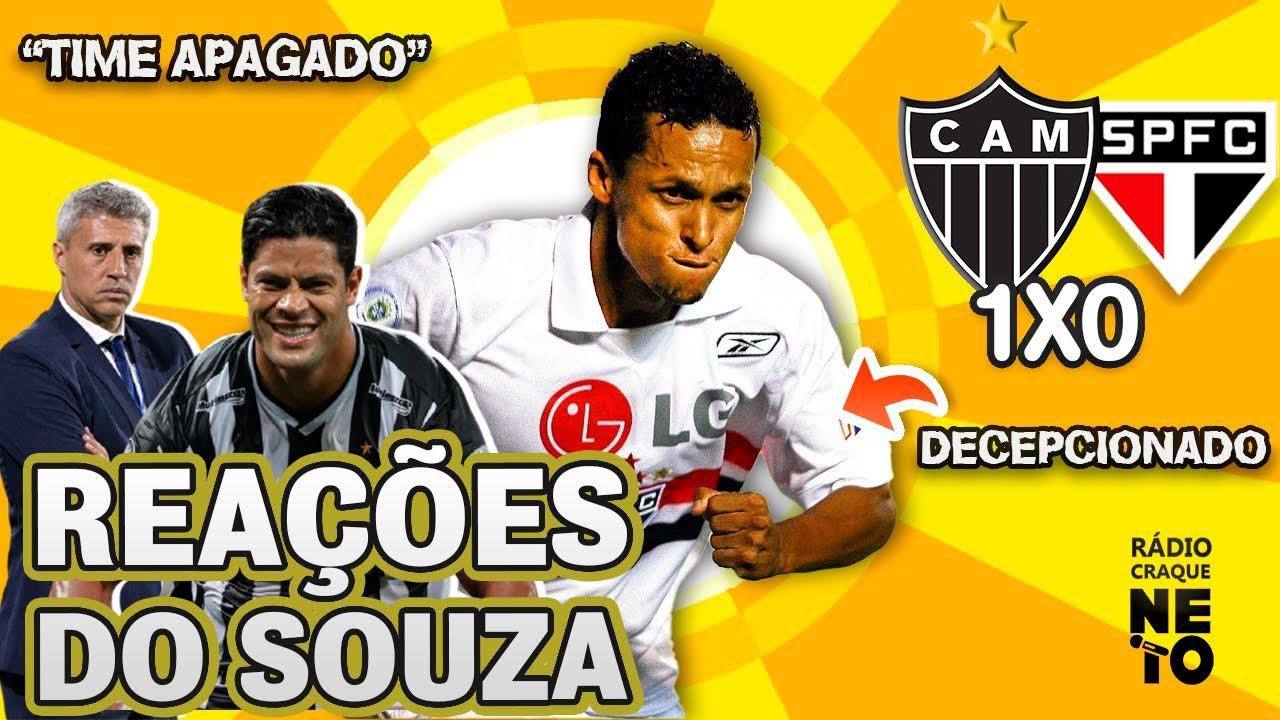 OLHA como o Souza reagiu a Atlético-MG 1x0 São Paulo pelo Brasileirão