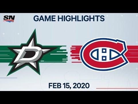 NHL Highlights | Stars vs Canadiens – Feb. 15, 2020