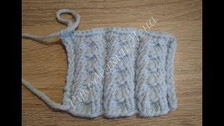 #3 красивый узор спицами/вязание спицами