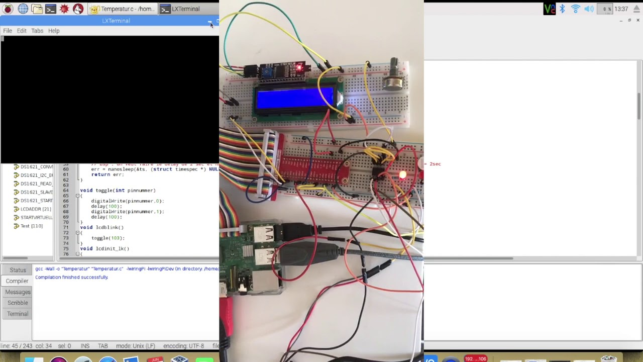 How To Code And Use Lcd 16x2 With I2c Wiringpi C On Raspberry Pi 2