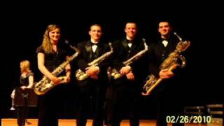 Murray State University Saxophone Quartet I plays the first mvt. of the Del Borgo