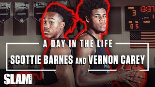 Vernon Carey and Scottie Barnes INVENTED a SECRET LANGUAGE?! 😮 | SLAM Day in the Life