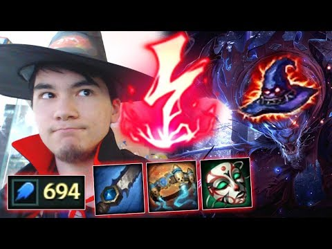 YOUMUUS HALLOWEEN SPECIAL FULL AP RENGAR WITH NEW RUNES ! SEASON 8 AP RENGAR 1 AOE 1 SHOTS !