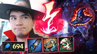 youmuus halloween special full ap rengar with new runes season 8 ap rengar 1 aoe 1 shots