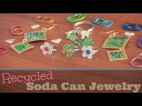 DIY SODA CAN JEWELRY - How To | SoCraftastic