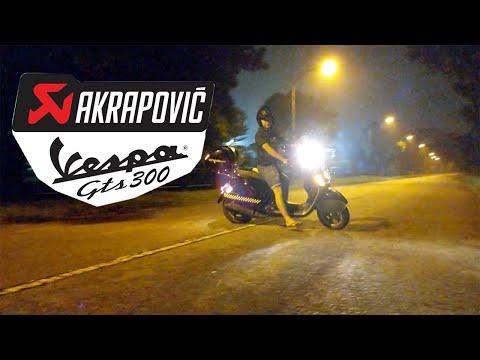 Vespa GTS  Akrapovic Drive By | GTS  Akrapovic Exhaust