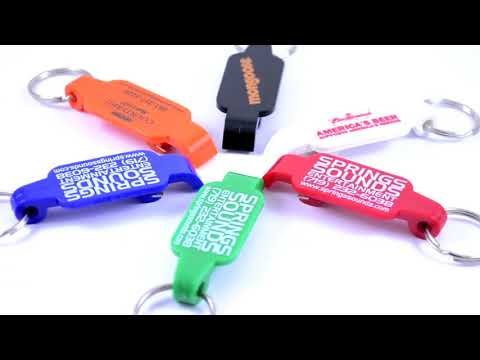 Our *custom Printed* Solid Color Bottle Opener Key Ring!!