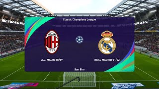 PES 2021 | Milan Clasico vs Real Madrid Clasico | Classic Champions League 2020/21 | Full Match