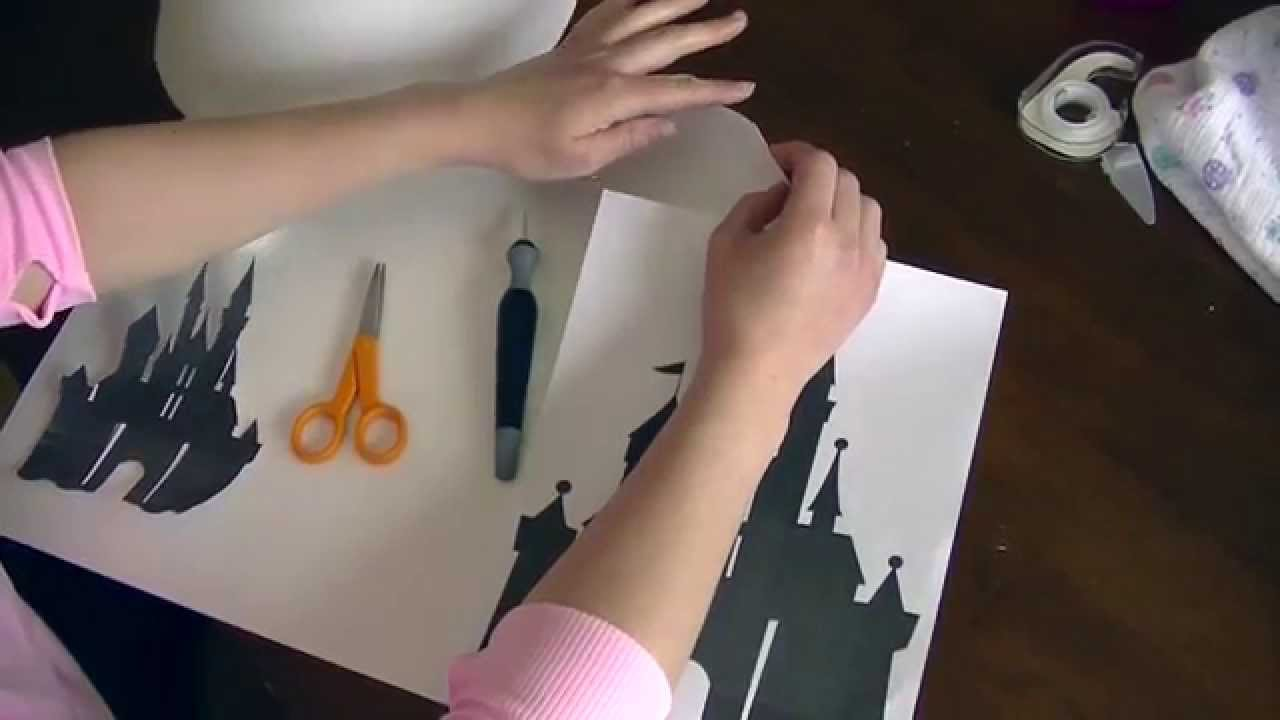 Diy disney lamp shade tutorial youtube mozeypictures Images