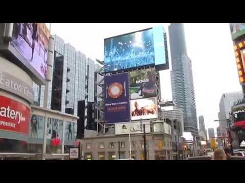 Times Square in Canada aka Yonge-Dundas Square, Toronto, Canada