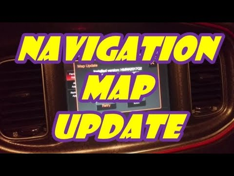 How To Update Your Uconnect NAV Map Database With New Roads, Routes, Points Of Interest, Etc.!!!