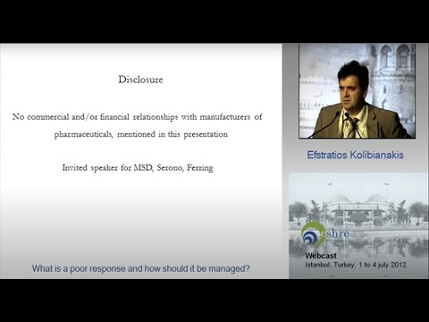 2012  European Society of Human Reproduction and Embryology, Annual meeting Istanbul