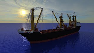 Minecraft Cargo Ship- Orca K [Full Interior][+Download]