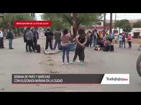 Gremios y organizaciones sociales marchan por calles de la ciudad