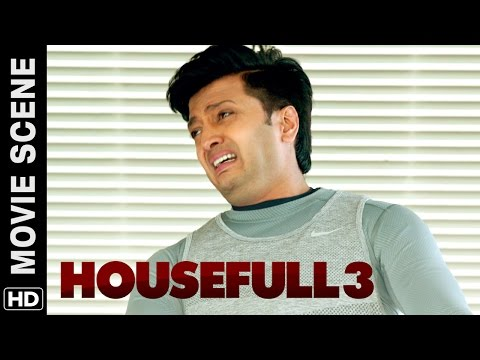 Boman tests Riteish's blindness | Housefull 3 | Movie Scene