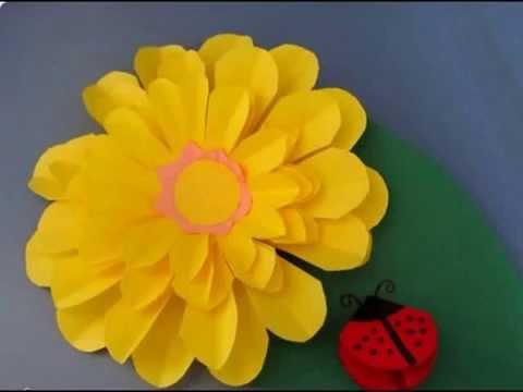 Цветок из бумаги для детей 150