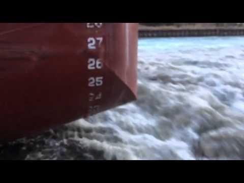 Edgar Speer Sturgeon Bay Ship Canal 3/23/15 Video 2