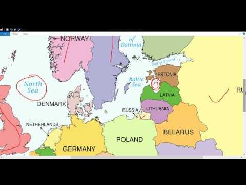 यूरोप की राजनीतिक एवम भौतिक स्तिथि मैप से समझें //EUROPE(POLITICAL AND PHYSICAL)