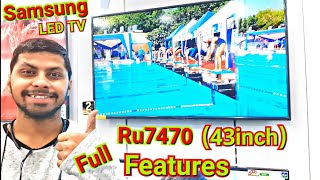 Samsung Smart LED Tv 43inch ru7470 Review/Features🖥