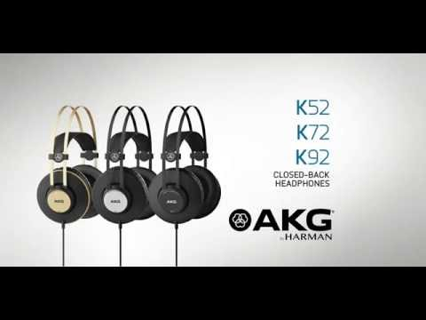 AKG K92, K72 and K52 Headphones