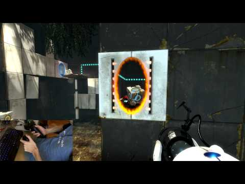 Playing Portal 2 with Razer Hydra [part 1/3]