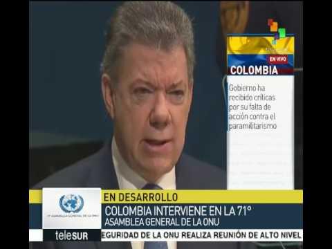 Discurso de Juan Manuel Santos en la Asamblea General de la ONU, 21/09/2016