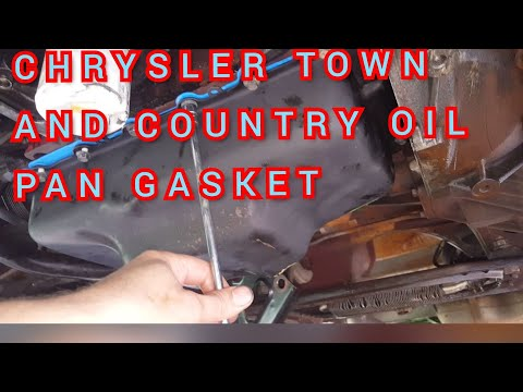 How to replace the oil pan gasket chrysler town and country/dodge caravan 3.3l 3.8l v6